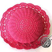 Работы для детей, ручной работы. Ярмарка Мастеров - ручная работа Панамка шляпка для девочки вязаная крючком из хлопка яркого цвета. Handmade.