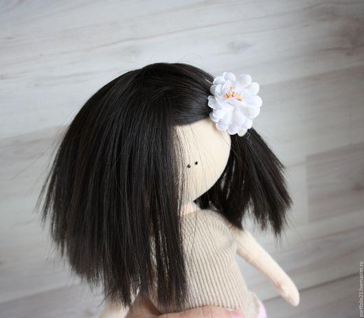 Куклы и игрушки ручной работы. Ярмарка Мастеров - ручная работа. Купить Парик  на куклу 10 см  головка. Handmade. Черный