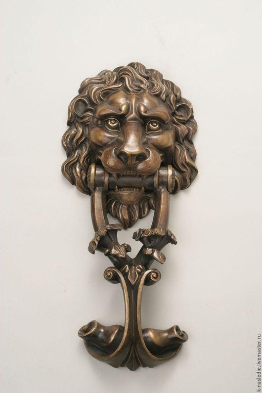Элементы интерьера ручной работы. Ярмарка Мастеров - ручная работа. Купить Дверная ручка Лев (бронзовая дверная ручка). Handmade.
