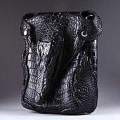 Сумки и аксессуары handmade. Livemaster - original item Crossbody bag from the skin of a crocodile with the head IMA0709B1. Handmade.