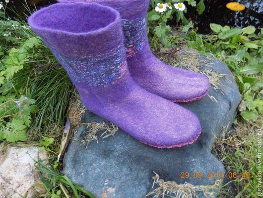 Обувь ручной работы. Ярмарка Мастеров - ручная работа. Купить Носки разные. Handmade. Разноцветный, Замша натуральная
