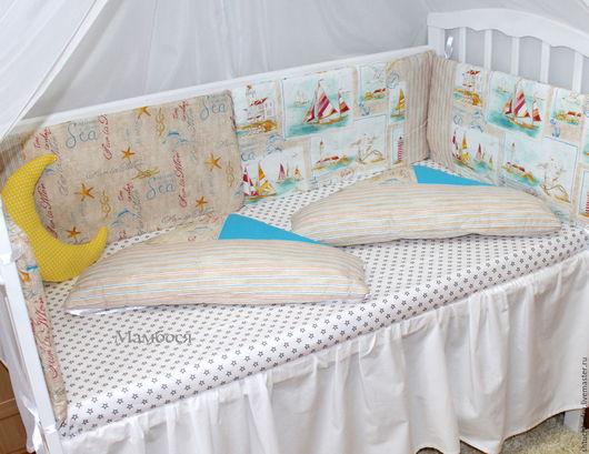 Детская ручной работы. Ярмарка Мастеров - ручная работа. Купить Бортик в детскую кроватку. Handmade. Бортики в кроватку, бортики-подушки