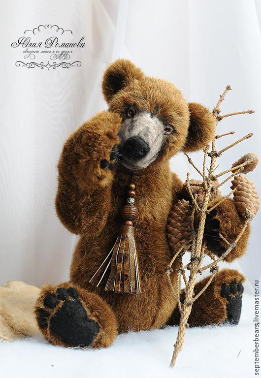 Мишки Тедди ручной работы. Ярмарка Мастеров - ручная работа. Купить бурый медведь Бернард (40 см.,рычит). Handmade.