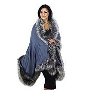 Аксессуары handmade. Livemaster - original item Stole with silver fox fur. Handmade.