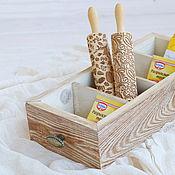 """Для дома и интерьера ручной работы. Ярмарка Мастеров - ручная работа Ящик """" Бри"""" из дерева, деревяннный ящик для хранения специй, для кухни. Handmade."""