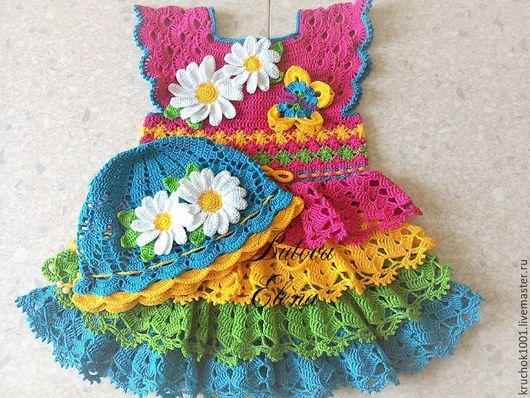 """Одежда для девочек, ручной работы. Ярмарка Мастеров - ручная работа. Купить Комплект """" Сказка"""". Handmade. Платье, комбинированный"""