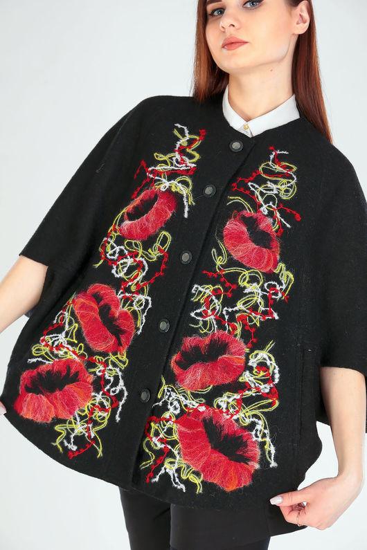 Верхняя одежда ручной работы. Ярмарка Мастеров - ручная работа. Купить ПЧ (м) 02 чёрное. Handmade. Белый