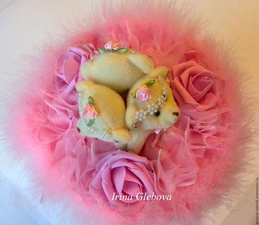 """Букеты ручной работы. Ярмарка Мастеров - ручная работа. Купить Букет из игрушек ''Розовый"""". Handmade. Розовый, игрушки, гофрированная бумага"""
