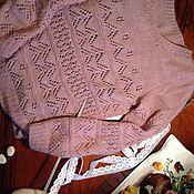 Одежда ручной работы. Ярмарка Мастеров - ручная работа Нежный ажурный шерстяной свитер с добавлением мохера.. Handmade.