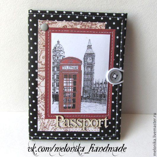 Обложки ручной работы. Ярмарка Мастеров - ручная работа. Купить Обложка на паспорт. Handmade. Черный, на паспорт, обложка, лондон, англия