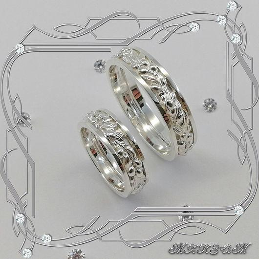 Rings/pair 'Olive branch' 925 sterling silver, Rings, St. Petersburg,  Фото №1