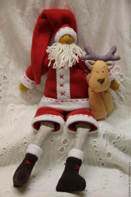 Куклы Тильды ручной работы. Ярмарка Мастеров - ручная работа. Купить Дед мороз и снегурочка тильда. Handmade.