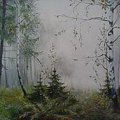 Картины и панно handmade. Livemaster - original item Oil painting Morning forest. Handmade.