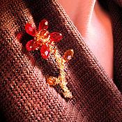 """Украшения ручной работы. Ярмарка Мастеров - ручная работа Брошь на шарф """"Аленький цветочек"""". Handmade."""