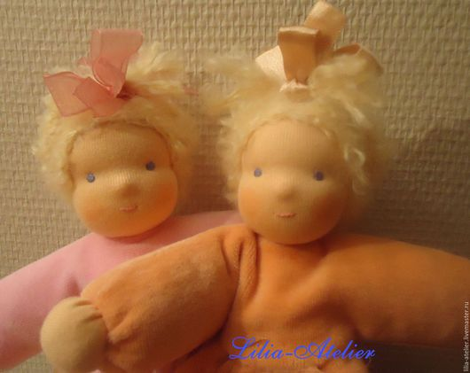 Вальдорфская игрушка ручной работы. Ярмарка Мастеров - ручная работа. Купить Вальдорфские куколки-малышки. Handmade. Розовый, Эко игрушка