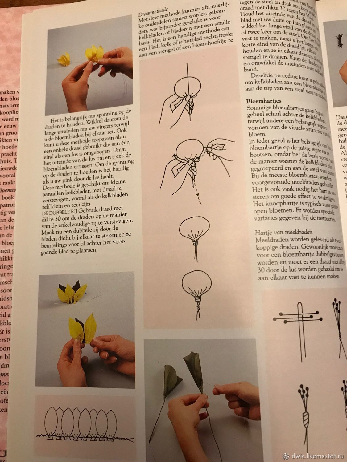 The Book Is About Creating Flowers From Silk The Netherlands Shop