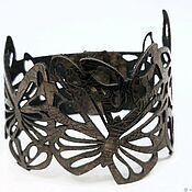 Украшения handmade. Livemaster - original item The original leather bracelet. ,, Butterflies