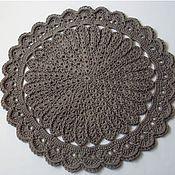 Для дома и интерьера handmade. Livemaster - original item Mat Round Knitted Handmade Silver Flower. Handmade.