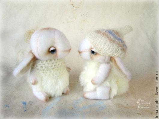 Мишки Тедди ручной работы. Ярмарка Мастеров - ручная работа. Купить Белые кролики. Тедди. Handmade. Белый, кролик игрушка
