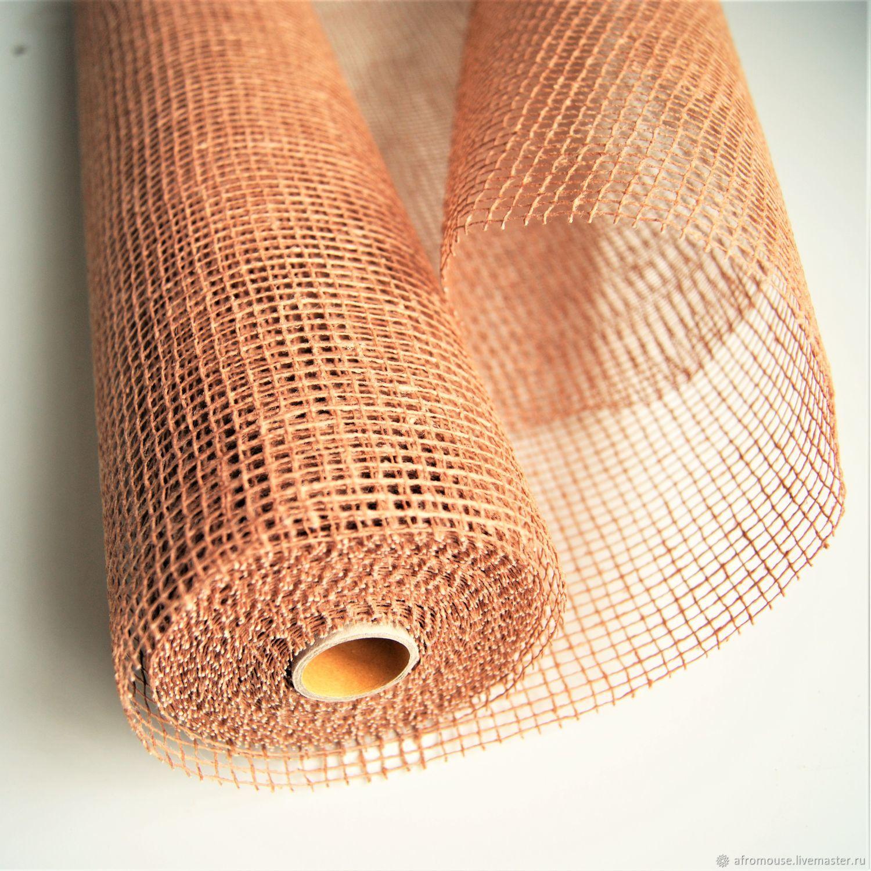Сетка крафтовая коричневая средняя ячейка, Упаковочная бумага, Москва,  Фото №1