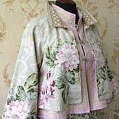 Одежда ручной работы. Ярмарка Мастеров - ручная работа Жакет двусторонний Акварельный. Handmade.