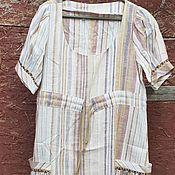 Одежда handmade. Livemaster - original item Dress linen stripe. Handmade.