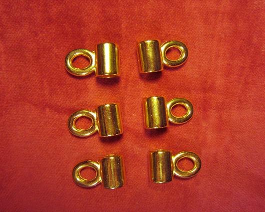 """Аппликации, вставки, отделка ручной работы. Ярмарка Мастеров - ручная работа. Купить Петля для шнуровки """"бочка"""". Винтаж. Золото. Handmade."""