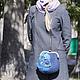 """Женские сумки ручной работы. Заказать сумка валяная сумка войлочная сумка с фермуаром """"Ночной сад"""". Юлия  Трушечкина. Ярмарка Мастеров."""