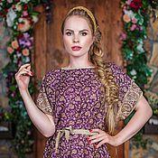 Одежда handmade. Livemaster - original item Tunic dress purple. Handmade.