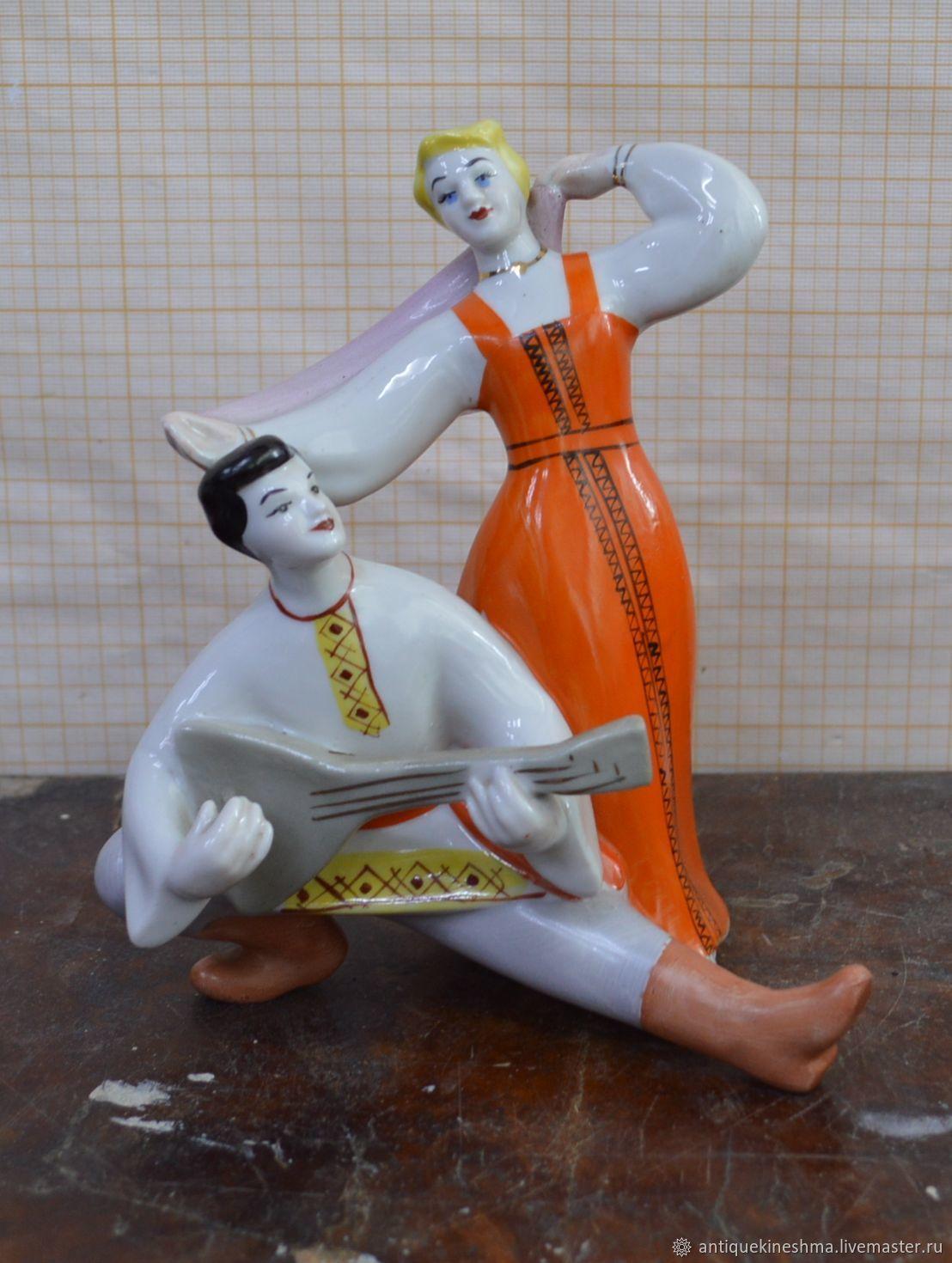 Statuette figurine sculpture of the USSR Dance Polonne ZHK 1960-e, Vintage interior, Kineshma,  Фото №1