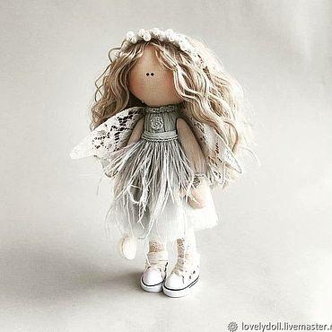 Dolls & toys handmade. Livemaster - original item Dolls: angel ashen Textile doll handmade. Handmade.