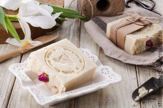 Мыло ручной работы. Ярмарка Мастеров - ручная работа. Купить Натуральное эко-мыло Роза Жасмин. Handmade. Белый