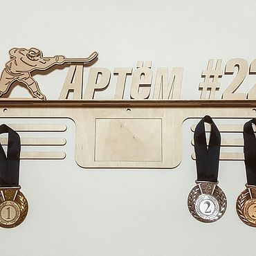 Souvenirs and gifts handmade. Livemaster - original item Nominal suspension for medals with photo frame Hockey. Handmade.