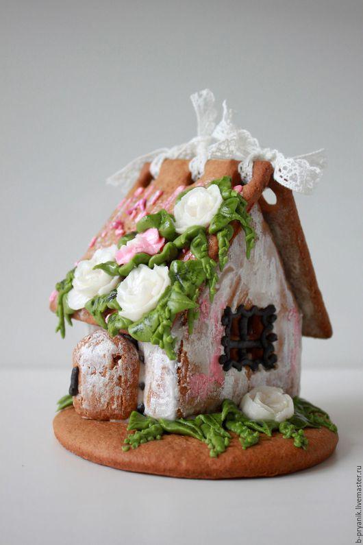 Кулинарные сувениры ручной работы. Ярмарка Мастеров - ручная работа. Купить Весенний пряничный домик с розами. Handmade. Пряник, сюрприз