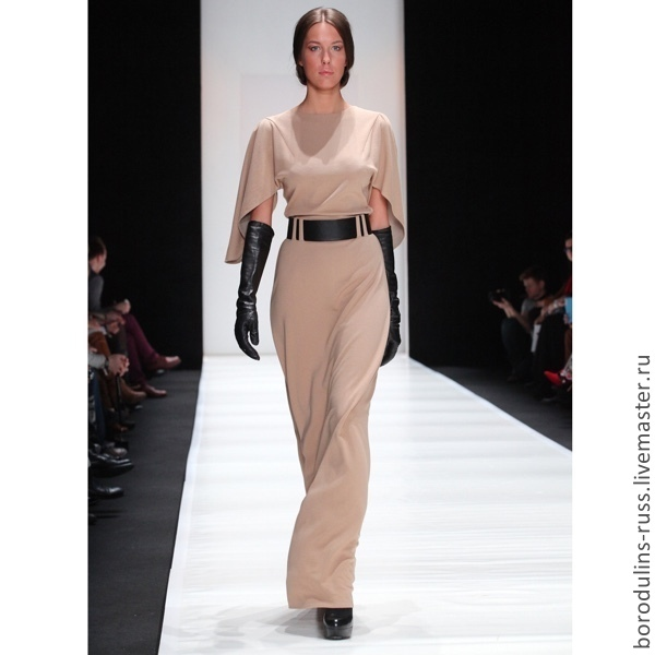 4be918b7cba Платье длиной в пол из плотного трикотажа – купить в интернет ...