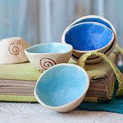 Посуда ручной работы. Ярмарка Мастеров - ручная работа Пиалочки Спираль рождения керамика набор 5 штук. Handmade.