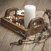 Для дома и интерьера ручной работы. Ярмарка Мастеров - ручная работа Поднос деревянный. Handmade.