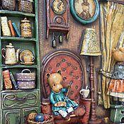 """Картины и панно ручной работы. Ярмарка Мастеров - ручная работа """"Из мягколапой жизни"""" интерьер в миниатюре (папье-маше, дерево). Handmade."""