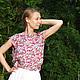 """Блузки ручной работы. Ярмарка Мастеров - ручная работа. Купить Блузка """"Нежный букет"""". Handmade. Розовый, блузка, блузка с принтом"""