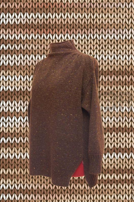 Кофты и свитера ручной работы. Ярмарка Мастеров - ручная работа. Купить Изысканный свитер оверсайз. Handmade. Коричневый, оверсайз