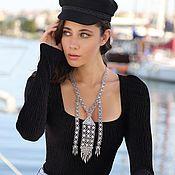 Украшения handmade. Livemaster - original item Silver-plated Ethno necklace 3 models. Handmade.