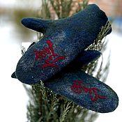 Аксессуары handmade. Livemaster - original item Men`s felted mittens