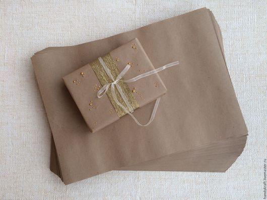 Упаковка ручной работы. Ярмарка Мастеров - ручная работа. Купить Крафт-бумага А3 (30х42 см). Handmade. Коричневый