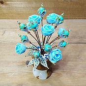 Цветы и флористика handmade. Livemaster - original item BOUQUETS: Turquoise flowers