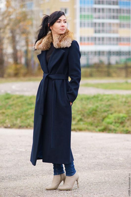 Верхняя одежда ручной работы. Ярмарка Мастеров - ручная работа. Купить Пальто Mood vita. Handmade. Тёмно-синий