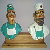 "Для дома и интерьера handmade. Livemaster - original item ""The Doctor"" - a set of decorative bottle toppers. Handmade."