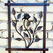 Для дома и интерьера handmade. Livemaster - original item Wrought iron panel Rose Bush. Handmade.