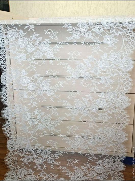 Шитье ручной работы. Ярмарка Мастеров - ручная работа. Купить Снова в наличии!!!Кружево ширина 70 см ( цвет  белый и черный). Handmade.