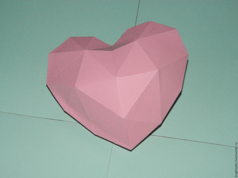 Как сделать объемное сердце оригами
