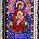 """Иконы ручной работы. Икона """"Пресвятая Богородица"""". Картины из бисера (biserrussia). Ярмарка Мастеров. Бисер, Пресвятая Богородица, подрамник"""